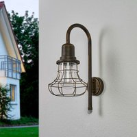 Antique outdoor wall lamp Bird with sensor