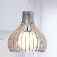 Wonderful Tindori hanging lamp  made of wood