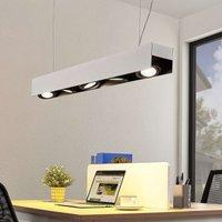 Arcchio Olinka LED hanging lamp black white 5 bulb