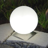 Ideal Snowball Globe Lamp White  Stainless Base 30