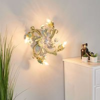 Tulipe ceiling lamp designed in a Florentine style