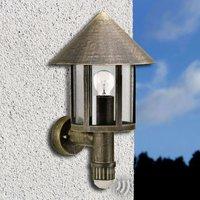 Motion sensitive outdoor wall light Laterna  brown