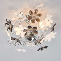 Flower Ceiling Lamp with Transparent Blossoms