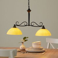 Linear pendant light Allemagne  glass  two bulb