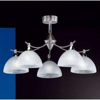 Amsterdam five bulb ceiling light  matt nickel