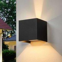 LED outdoor wall light SIRI 44  matt black finish