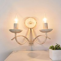 Hannes wall light  antique white  two bulb