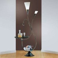 Floor lamp Marron with shelf
