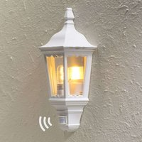 Firenze outdoor wall lamp half shell  sensor white