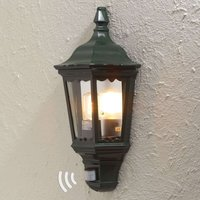 Firenze outdoor wall lamp half shell  sensor green
