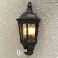 Firenze outdoor wall lamp half shell  sensor black