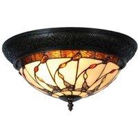 Tiffany style ceiling light Florent