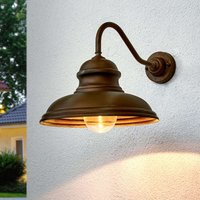 Wall lamp ALESSIA in antique brass