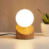 Alisa LED table lamp  base with a wood finish