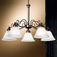 Jonte Hanging Light Frilly Five Bulbs