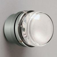 Fresnel   wall light with glass lens  chrome IP44