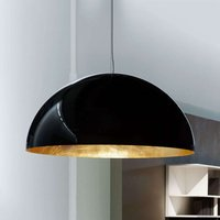 Semi circular hanging light Sonora  black gold
