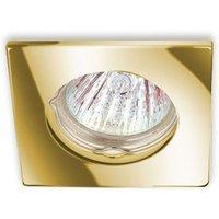 Recessed light KAR low voltage angular gold plated