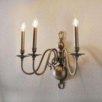 Antique 3 bulb wall light HOLANDESAS