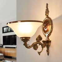 Beautiful wall light Rialto in glass and amber