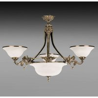Chandelier Rialto with white lampshades