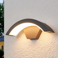 Curved LED outdoor wall light Jule