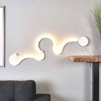 Sandor LED wall light with unique lighting