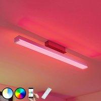 Keyan LED ceiling lamp  WiZ  angular  long  nickel