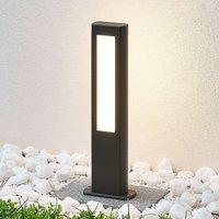 Mhairi LED pillar lamp  angular  dark grey  50 cm