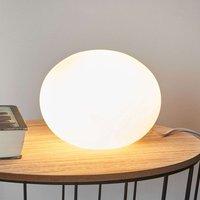 Decorative table lamp glass Oval  18 cm diameter
