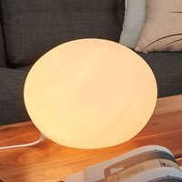 Table lamp glass Oval with 30 cm diameter