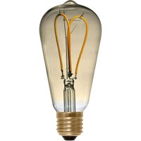 E27 4 W 922 LED rustic bulb Curved Line gold