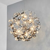 Sparkling Curls pendant lamp with crystals 50
