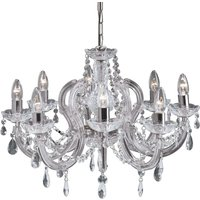 Marie Therese chandelier  chrome  eight bulb