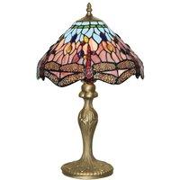 Enchanting Tiffany style Dragonfly table lamp