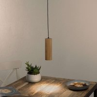 One bulb LED LED pendant light Pipe of oak wood