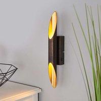 Rust coloured Bolero LED wall light  golden inner