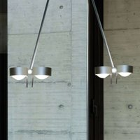 PUK CEILING  4 bulb matt chrome 80 cm