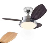Wenge ceiling fan with halogen lamp