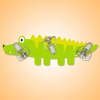 Humorous Crocodile ceiling light with 3 bulbs