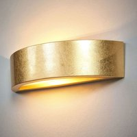 Jasin   wall light with a golden surface