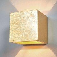Cube shaped wall light Yade  golden