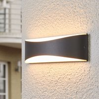 Anthracite coloured LED outdoor wall light Akira