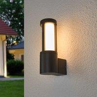 Dark grey LED outdoor wall lamp Sidny