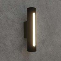 Dark grey LED outdoor wall light Tomas