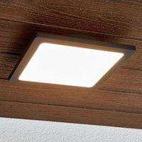 LED outdoor ceiling lamp Mabella in dark grey