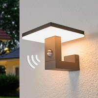 Motion detector outdoor wall light Olesia with LED