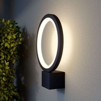 LED outdoor wall light Ring  graphite grey