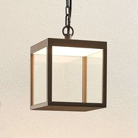 LED outdoor hanging light Cube  18 cm