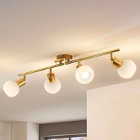 4 bulb LED ceiling light Elaina in brass